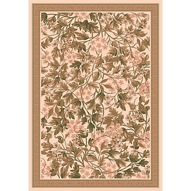 Milliken Pastiche Delphi Floral Sand Brown Rug; Rectangle 2'8'' x 3'10''