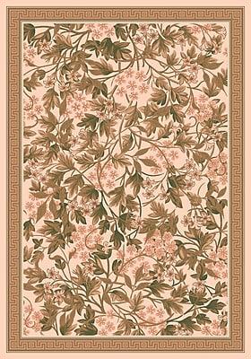 Milliken Pastiche Delphi Floral Sand Brown Rug; Rectangle 7'8'' x 10'9''