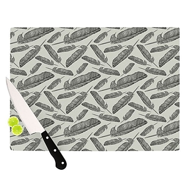 KESS InHouse Feather Scene Cutting Board; 11.5'' H x 15.75'' W