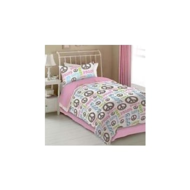 Veratex Peace and Love Sheet Set; Twin