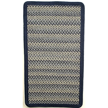 Thorndike Mills Pioneer Valley II Williamsburg Blue w/ Dark Blue Solids Multi Square Rug; Square 4'