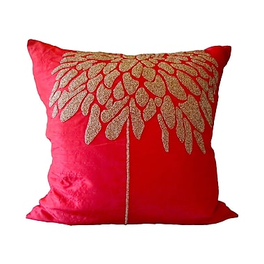 Debage Inc. Bling Coral Tree Throw Pillow; Red