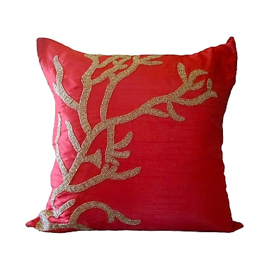 Debage Inc. Bling Reef Throw Pillow; Red