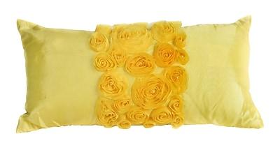 Debage Inc. Spring Flower Lumbar Pillow; Yellow