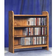 Wood Shed 300 Series 165 CD Multimedia Tabletop Storage Rack; Clear