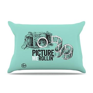 KESS InHouse Picture Me Rollin Pillowcase; Standard