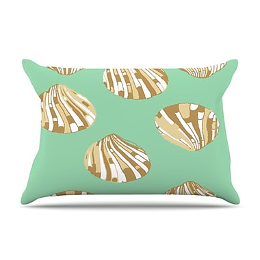 KESS InHouse Scallop Shells Pillowcase; King