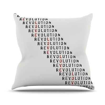 KESS InHouse Revolution Throw Pillow; 20'' H x 20'' W