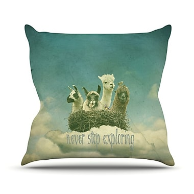 KESS InHouse Never Stop Exploring Throw Pillow; 16'' H x 16'' W