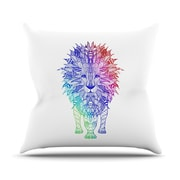 KESS InHouse Rainbow Lion Throw Pillow; 18'' H x 18'' W