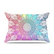 KESS InHouse Rainbow Dots Pillowcase; Standard