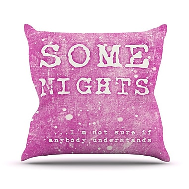 KESS InHouse Some Nights Throw Pillow; 18'' H x 18'' W