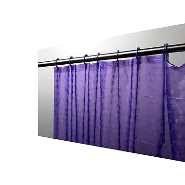 Carnation Home Fashions Peva Shower Curtain; Purple