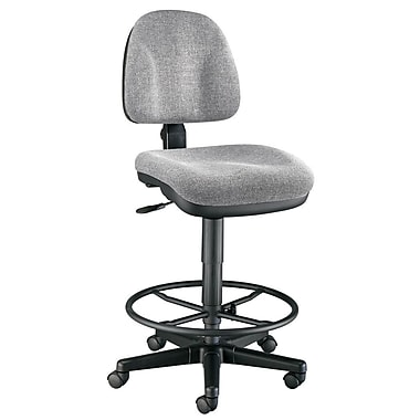 Alvin and Co. Mid-Back Drafting Chair; Medium Gray