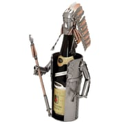 H & K SCULPTURES Indian Chief 1 Bottle Tabletop Wine Rack