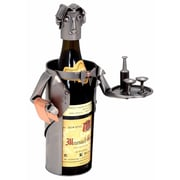 H & K SCULPTURES Waiter 1 Bottle Tabletop Wine Rack