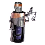 H & K SCULPTURES Lady Justice 1 Bottle Tabletop Wine Rack