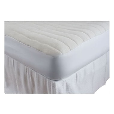 DownTown Company Luxurious Comfort 1'' Cotton Mattress Pad; Twin Extra Long