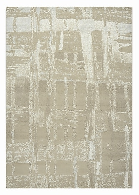 Dynamic Rugs Mysterio Light Beige Area Rug; Rectangle 5'3'' x 7'7''