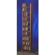 Wood Shed 1000 Series 260 CD Backless Dowel Multimedia Storage Rack; Natural