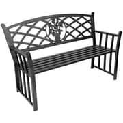 Jordan Manufacturing Bouquet Metal Garden Bench