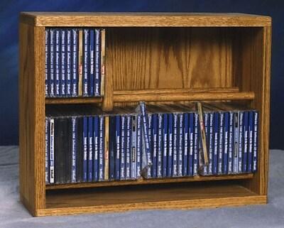 Wood Shed 200 Series 80 CD Multimedia Storage Rack; Natural