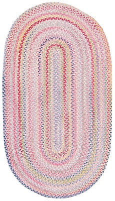 Capel Baby's Breath Pink Area Rug; Oval 2' x 3'