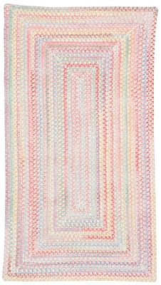 Capel Baby's Breath Pink Area Rug; Concentric 3' x 5'