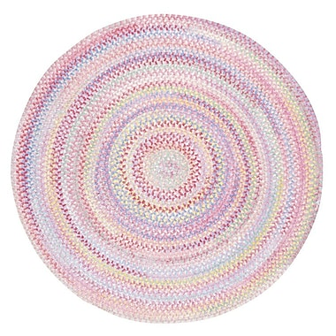 Capel Baby's Breath Pink Area Rug; Round 3'