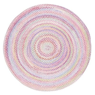 Capel Baby's Breath Pink Area Rug; Round 8'6''