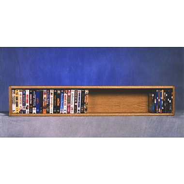 Wood Shed 100 Series 50 VHS Wall Mounted Multimedia Storage Rack; Natural