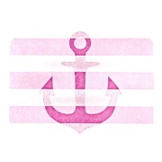 KESS InHouse Stone Vintage Anchor Placemat; Pink