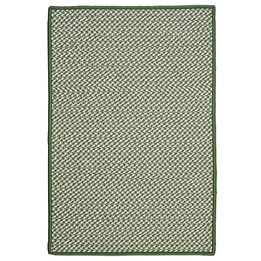 Colonial Mills Outdoor Houndstooth Tweed Leaf Green Rug; Rectangle 2' x 4'