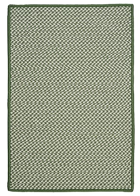 Colonial Mills Outdoor Houndstooth Tweed Leaf Green Rug; Rectangle 4' x 6'