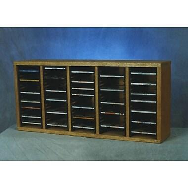 Wood Shed 500 Series 100 CD Multimedia Tabletop Storage Rack; Natural