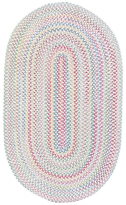 Capel Baby's Breath Lily Kids Area Rug; Oval 9'2'' x 13'2''