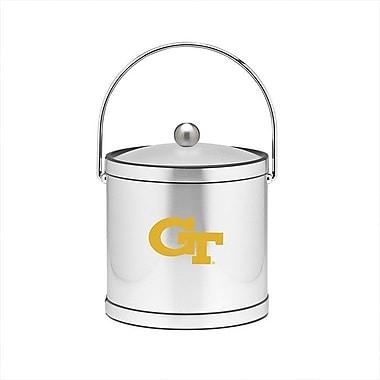 Kraftware NCAA 3 Qt Ice Bucket in Brushed Chrome; Georgia Tech