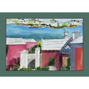 Betsy Drake Interiors Roof Tops Placemat (Set of 4)