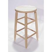 Dixie Seating Lincoln 24'' Bar Stool; Unfinished