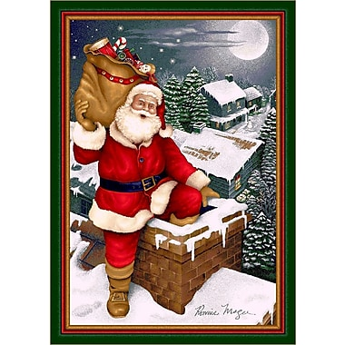 Milliken Winter Seasonal Up on the Housetop Christmas Area Rug; Rectangle 5'4'' x 7'8''