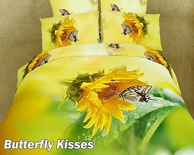 Dolce Mela Butterfly Kisses Duvet Cover Set; Full/Queen