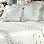 Debage Inc. Climbing Lace Vine 6 Piece Duvet Cover Set; Queen