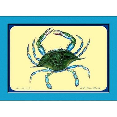 Betsy Drake Interiors Female Crab Placemat (Set of 4)