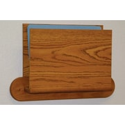 Wooden Mallet Open End Single Chart Holder - HIPPAA Compliant; Medium Oak