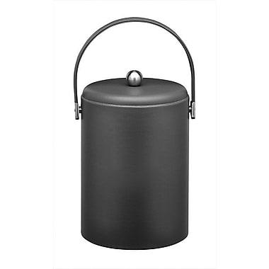 Kraftware Soho 5 Qt Leatherette Ice Bucket in Black