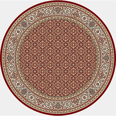 Dynamic Rugs Ancient Garden Red/Ivory Area Rug; Round 7'10''