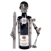 H & K SCULPTURES Skier 1 Bottle Tabletop Wine Rack