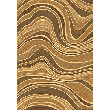 Dynamic Rugs Eclipse Beige Wave Area Rug; 3'11'' x 5'7''