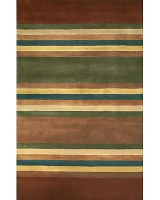 American Home Rug Co. Casual Contemporary Earth Tones Modern Stripes Area Rug; Runner 2'6'' x 10'