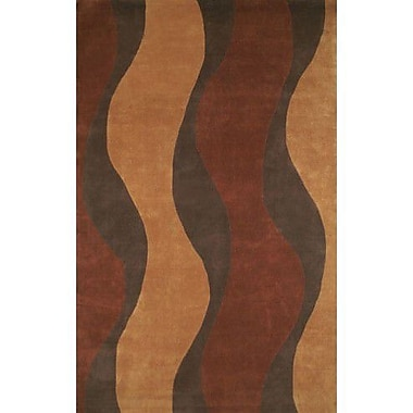 American Home Rug Co. Casual Contemporary Rust / Brown Windsong Area Rug; 3'6'' x 5'6''